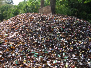 Plenty of bottles to choose from at the local recycling yard.
