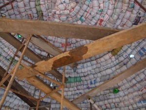 The last bags and bottles are in the roof of the Jungle Dome.