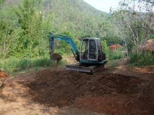 Digging my 'natural' swimming pool.