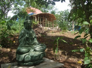 Kwan Yin, the Goddess of Infinite Compassion, has a home in the garden.